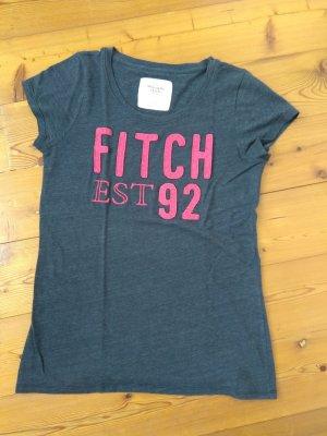 Dunkelblaues Abercrombie & Fitch Shirt pinker Schrift (S)