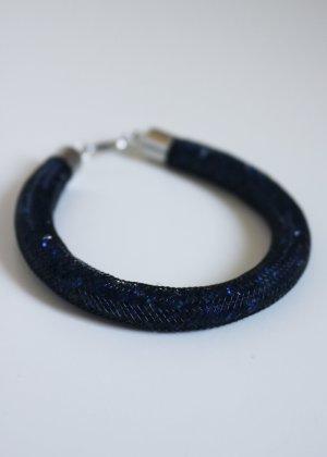 dunkelblaues Armband gefüllt mit Strasssteinen Neu