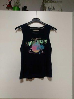Dunkelblaues bedrucktes Shirt