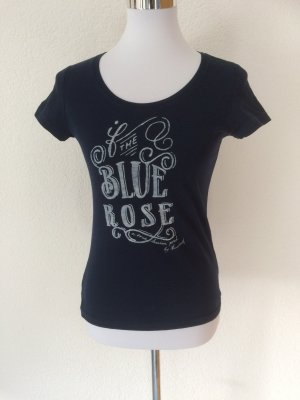 dunkelblaues / blaues Mustang Shirt mit Logo The Blue Rose - Gr. XS
