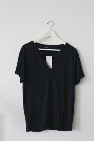 Dunkelblaues Blusen-Shirt von Mango