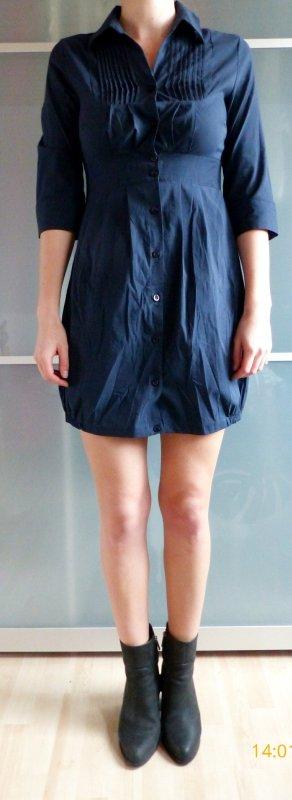 dunkelblaues Blusenkleid mit enger Taille und Ballonrock von Vero Moda größe XS
