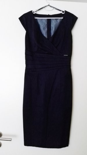 Dunkelblaues Business Kleid