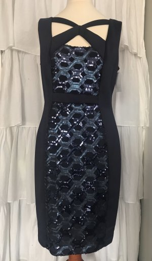 Connected Apparel Evening Dress dark blue-blue polyester
