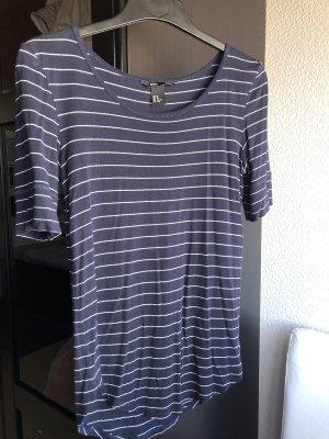 H&M Gestreept shirt donkerblauw-wit