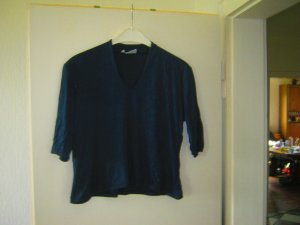 dunkelblaues glänzendes Shirt