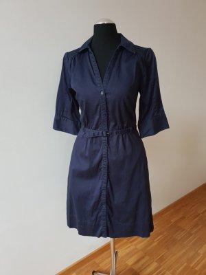 H&M Robe chemisier bleu foncé