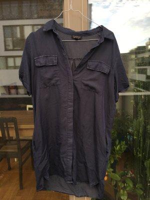 Dunkelblaues Hemdkleid von Topshop