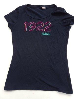 Dunkelblaues Hollister T-shirt Größe S