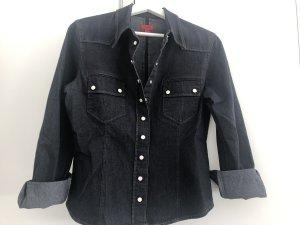 HUGO Hugo Boss Denim Shirt dark blue