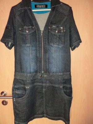 Dunkelblaues Jeanskleid
