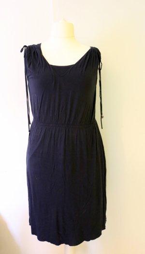 Dunkelblaues Jersey-Kleid mit Stretch und Top, Größe 46/48