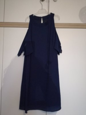 Zara Vestido de cuello Halter azul oscuro