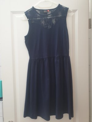 Only Vestido de encaje azul oscuro