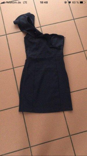 H&M One Shoulder Dress dark blue