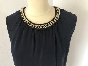 Dunkelblaues Kleid aus Seide von Michael Kors