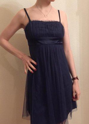 Heine Chiffon jurk donkerblauw-blauw