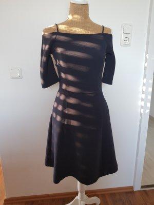 H&M Off the shoulder jurk donkerblauw
