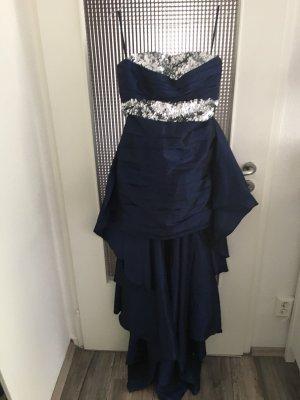 Dunkelblaues Kleid mit Glitzerpailletten (Zweiteiler) zu Verkaufen!