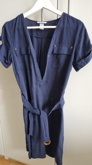 dunkelblaues Kleid mit Taschen