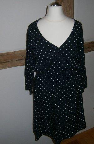 Dunkelblaues Kleid mit weißen Pünktchen - Größe 36 - neu mit Etikett
