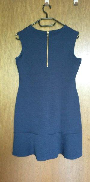 Dunkelblaues Kleid von Esprit, Gr. M, goldfarbener Reißverschluss