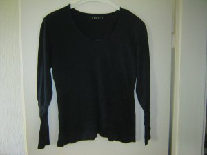 dunkelblaues Langarm-Shirt
