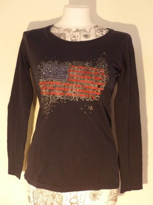 dunkelblaues Langarmshirt mit Stickerei von Esprit