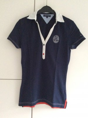 Hilfiger Polo shirt donkerblauw-wit
