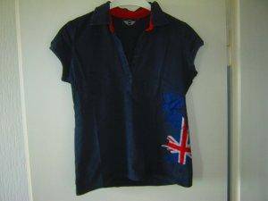 dunkelblaues Poloshirt