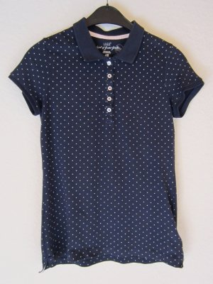H&M L.O.G.G. Polo shirt wit-donkerblauw Katoen