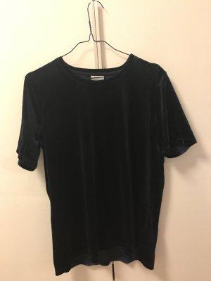 Dunkelblaues Samt T-Shirt