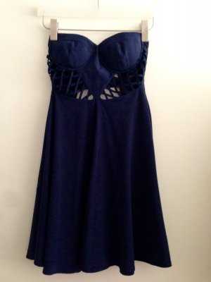 Dunkelblaues, schulterfreies Kleid von ark&co.