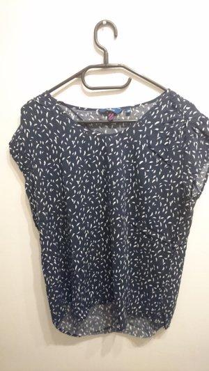 Dunkelblaues Shirt mit Federn von Tom Tailor in Größe 40
