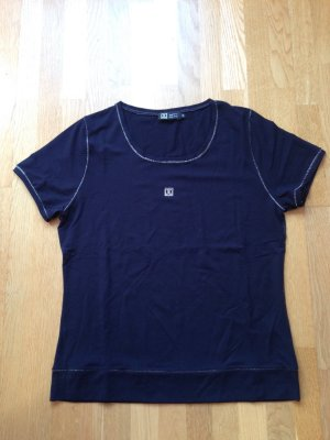 Dunkelblaues Shirt mit Glitzerlogo
