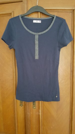 AJC Shirt dark blue-pale blue cotton