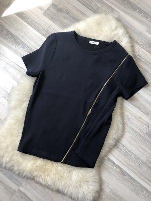 Dunkelblaues Shirt mit Reißverschluss