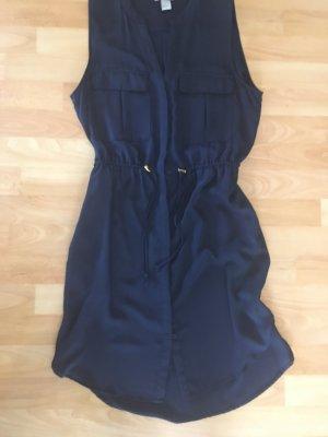 H&M Hemdblousejurk donkerblauw
