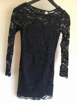 H&M Lace Dress dark blue
