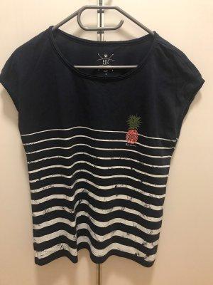 Dunkelblaues Streifenshirt mit Ananas, Esprit, Gr.S