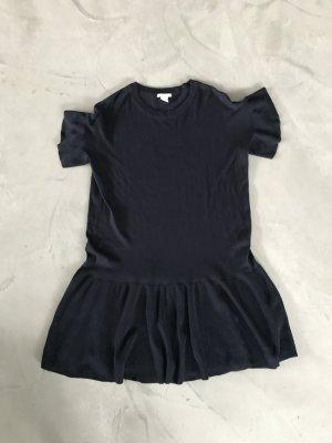 H&M Vestido peplum azul oscuro