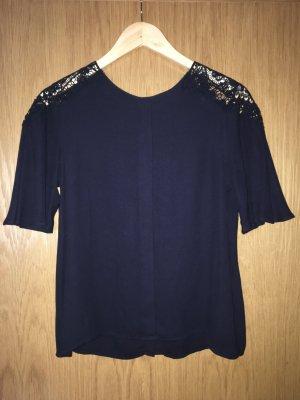 Dunkelblaues T-shirt/Bluse