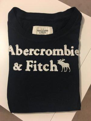 Dunkelblaues T-Shirt von Abercrombie & Fitch