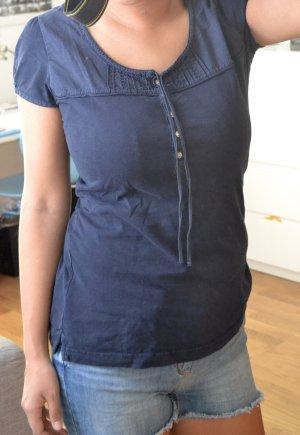 Dunkelblaues T-Shirt von H&M