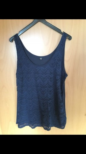 Amisu Lace Top dark blue