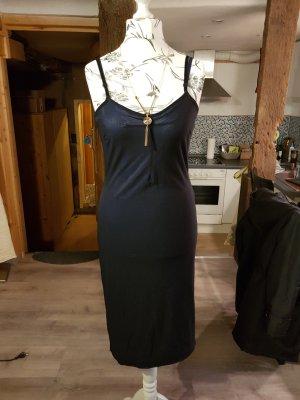 Dunkelblaues Träger-Kleid Gr. 38 Nylon