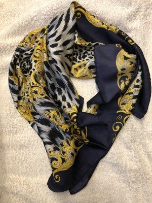 Dunkelblaues Tuch mit Animal Print