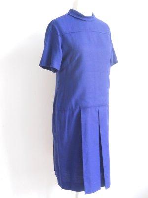 Dunkelblaues Vintage Kleid mit 20er Jahre-Schnitt Gr. 42