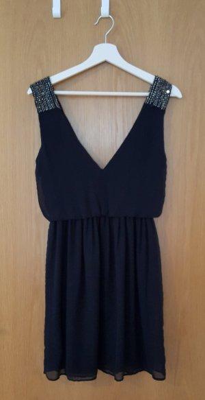 Zara Vestido de noche azul oscuro