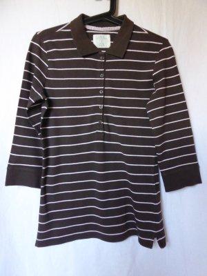 H&M L.O.G.G. Camisa de rayas marrón oscuro-blanco